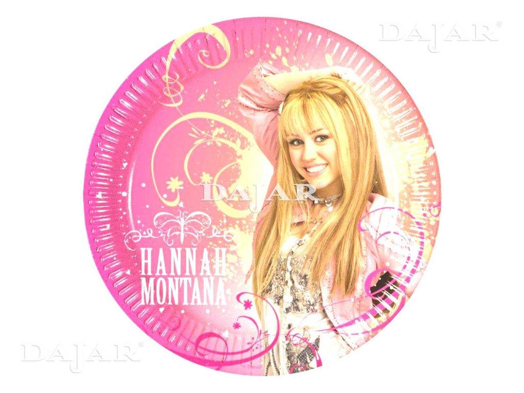 Sada 10 papírových talířů Hannah Montana 19,5 cm DISNEY