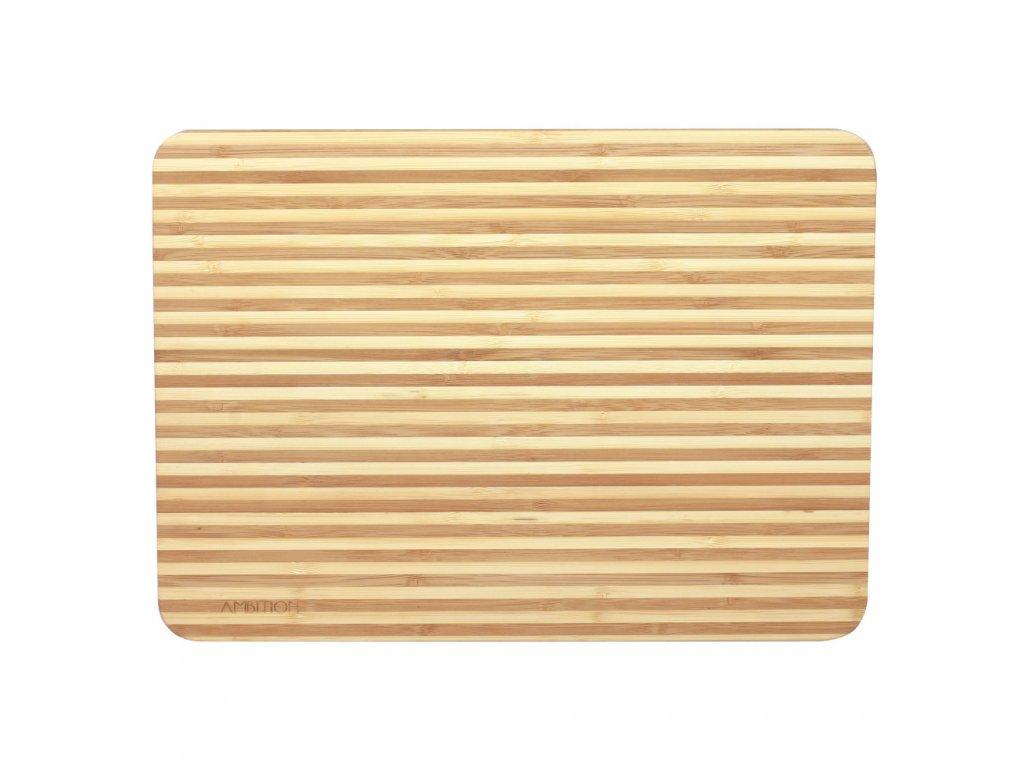Bambusové prkénko na krájení Panda Narrow Strips 35 x 25 x 2 cm AMBITION