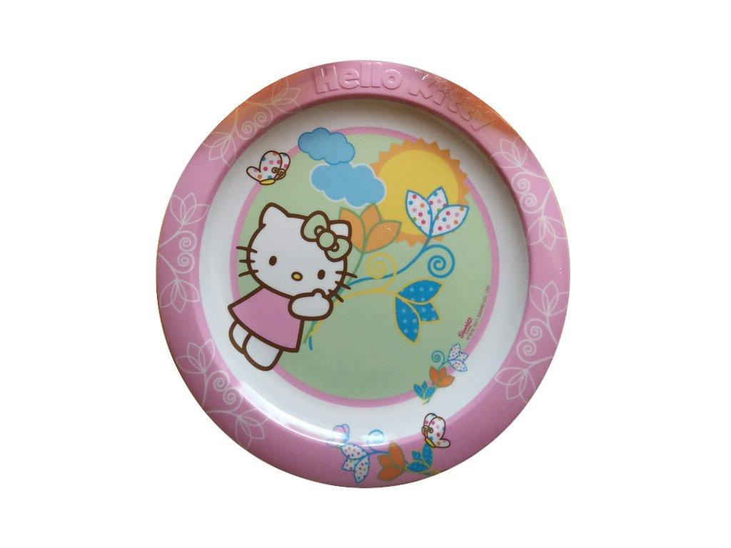 Melaminový mělký talíř Hello Kitty Flowers 22 cm DISNEY