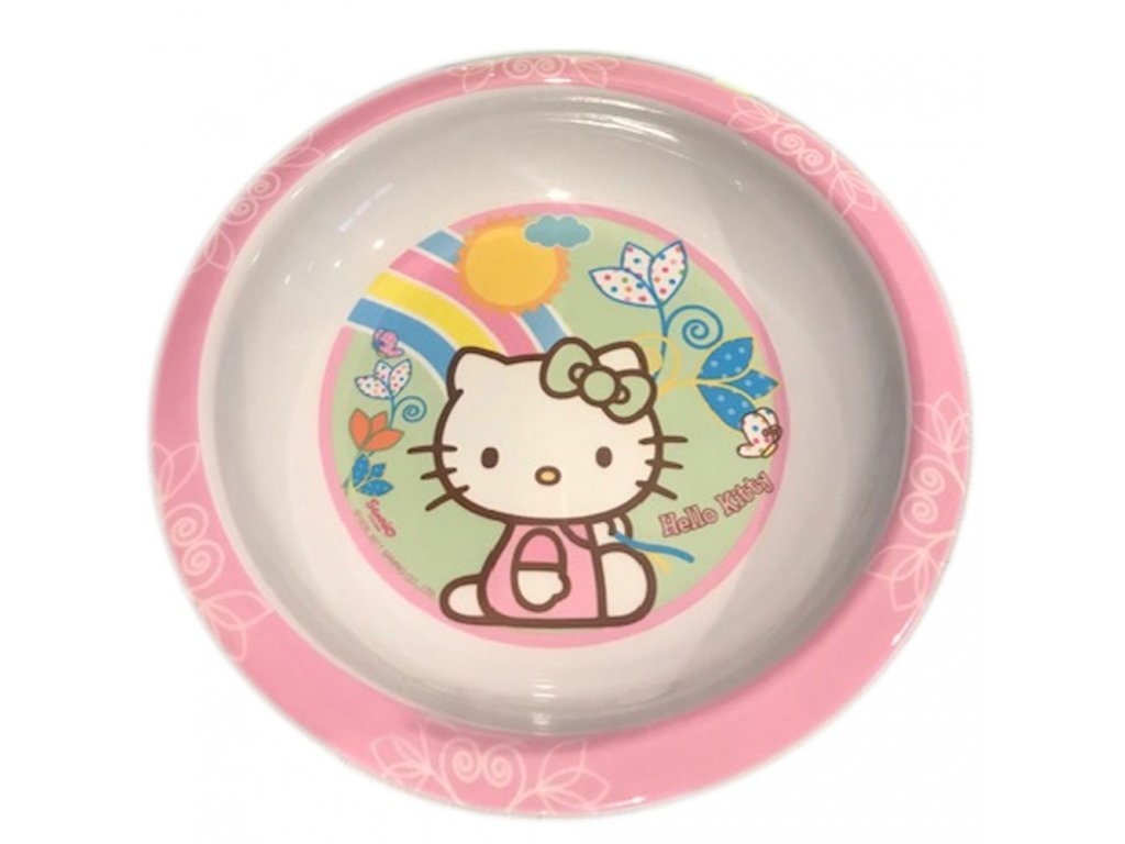 Melaminový hluboký talíř Hello Kitty Flowers 19,5 cm DISNEY