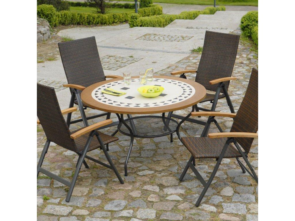 Kamenný zahradní stůl Como 125 cm PATIO