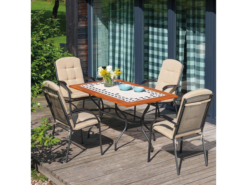 Kamenný zahradní stůl Como 160 x 90 cm PATIO