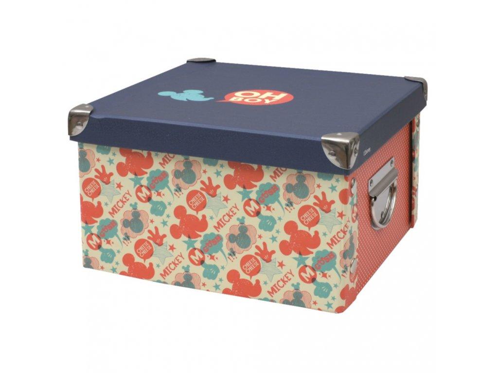 Střední lepenková krabice Mickey Classic 24 x 24 x 14 cm DISNEY
