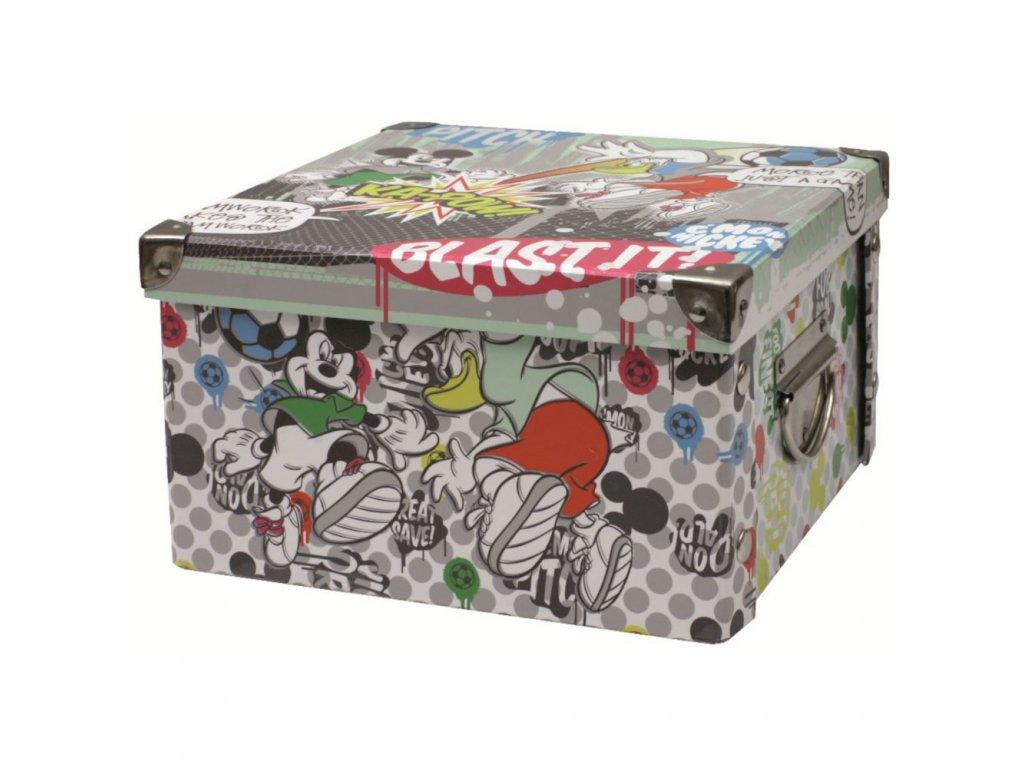 Střední lepenková krabice Mickey Strike 24 x 24 x 14 cm DISNEY