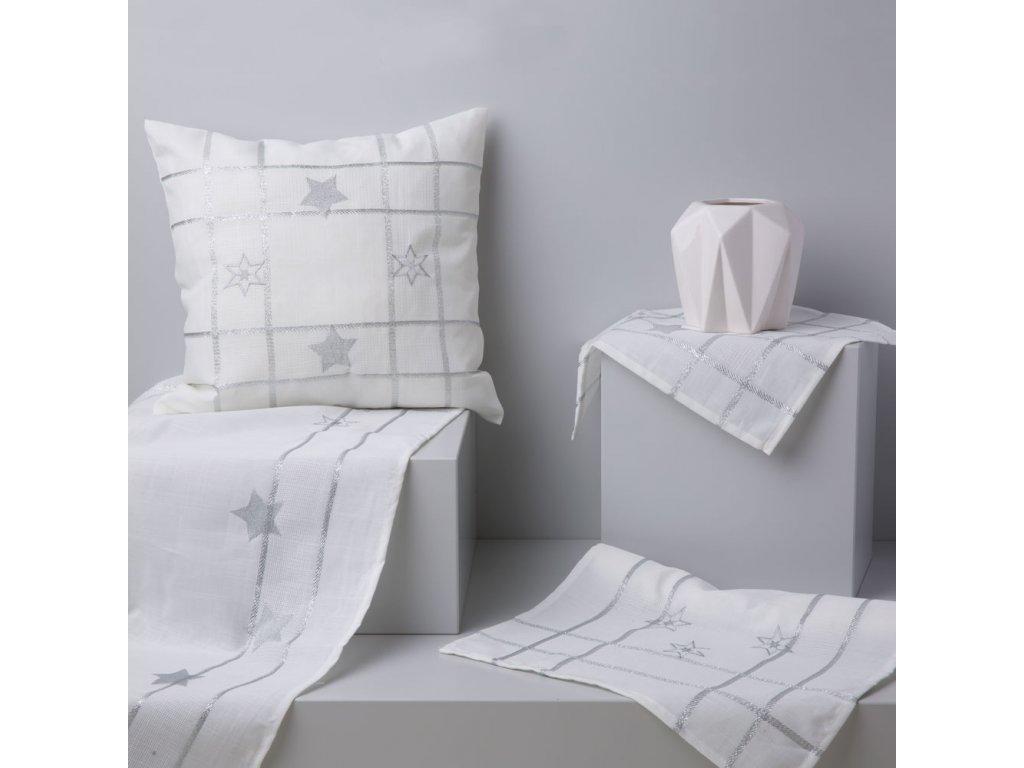 Dekorační běhoun / štola z polyesteru Silver Star 40 x 150 cm AMBITION