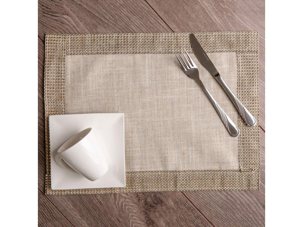 Podložka na stůl z polyesteru Decor Champagne 30 x 40 cm AMBITION