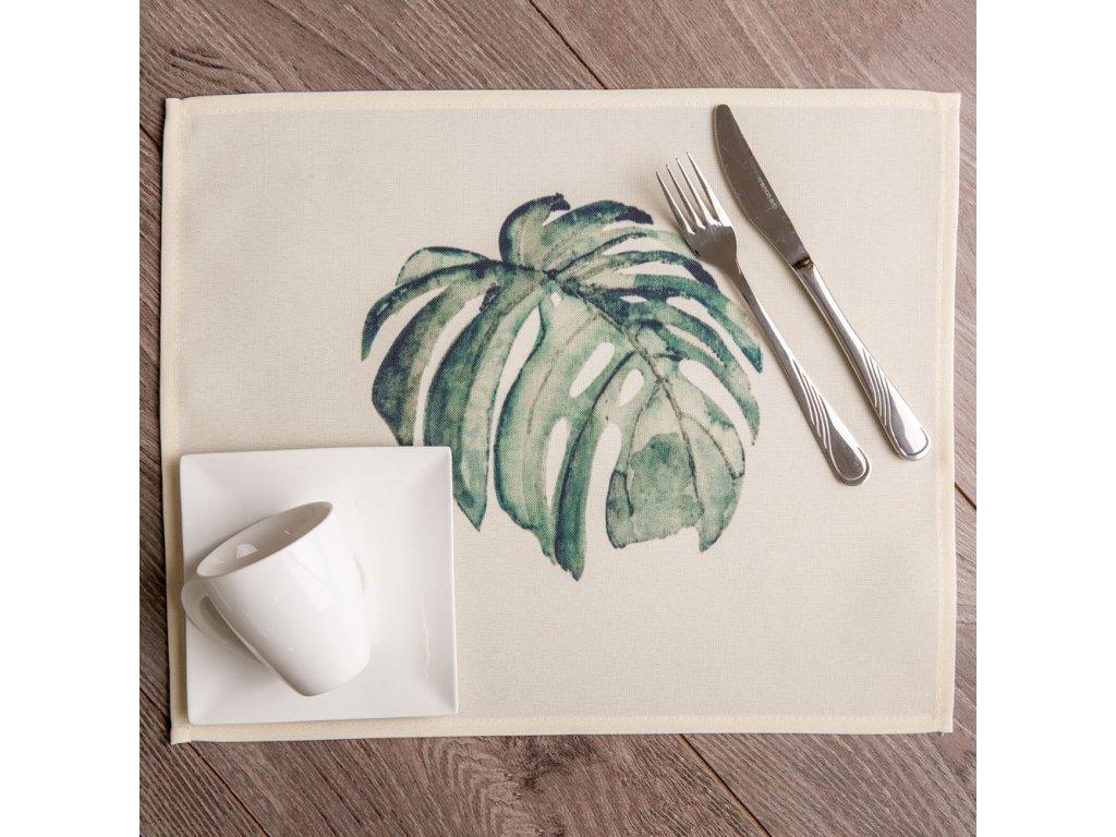 Podložka na stůl z polyesteru Botanic Monstera 30 x 40 cm AMBITION
