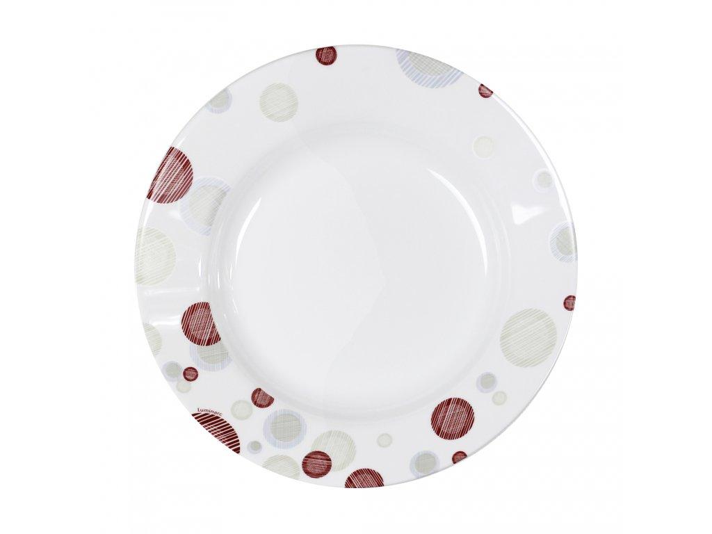 Mělký talíř Enzo Pink 26 cm LUMINARC