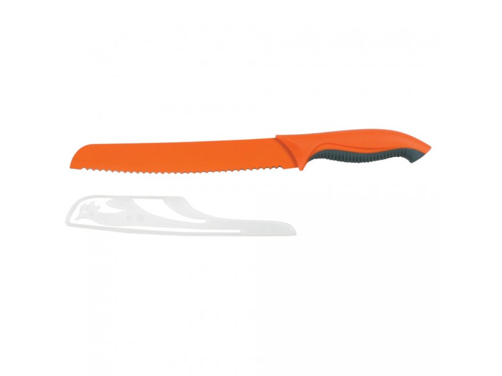 Nůž na chléb s povlakem non-stick Forte Orange 20 cm AMBITION