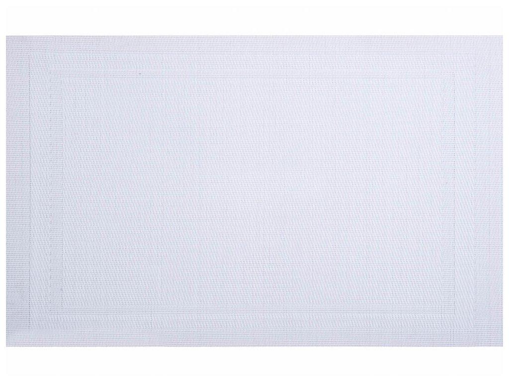 Podložka na stůl Velvet White PVC / PS 30 x 45 cm AMBITION
