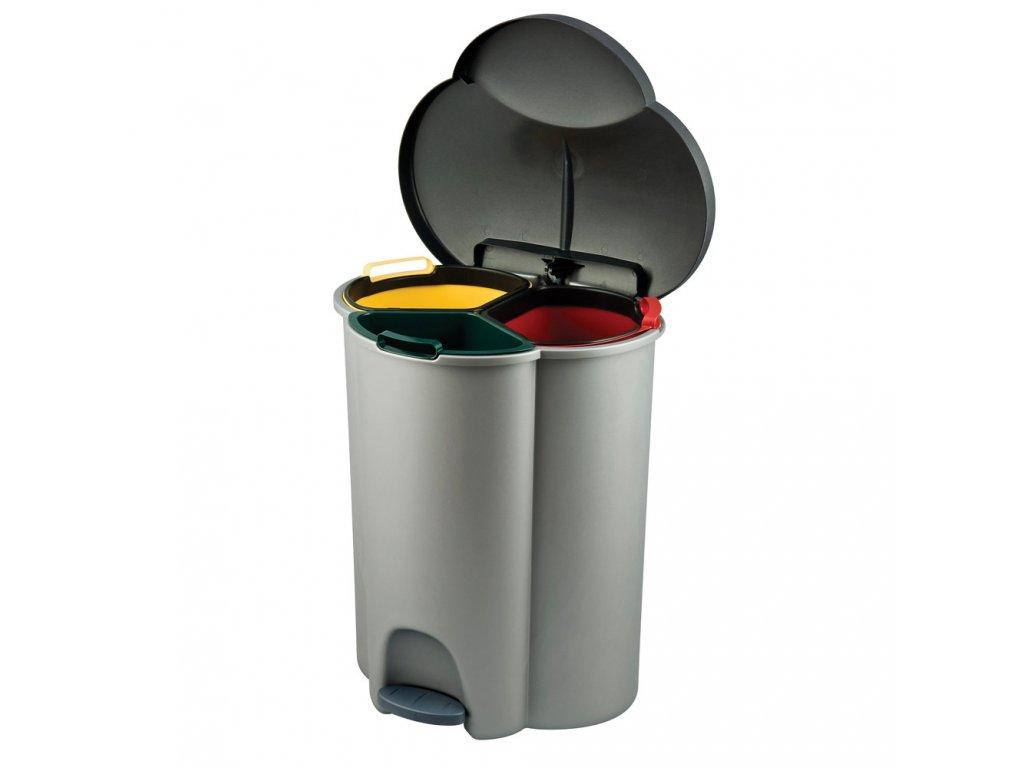 Odpadkový koš Trio na tříděný odpad 40 l CURVER