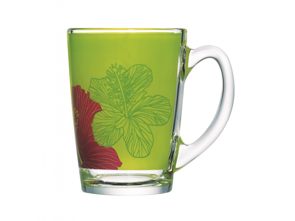 Hrnek New Morning Hibiskus Green 320 ml LUMINARC