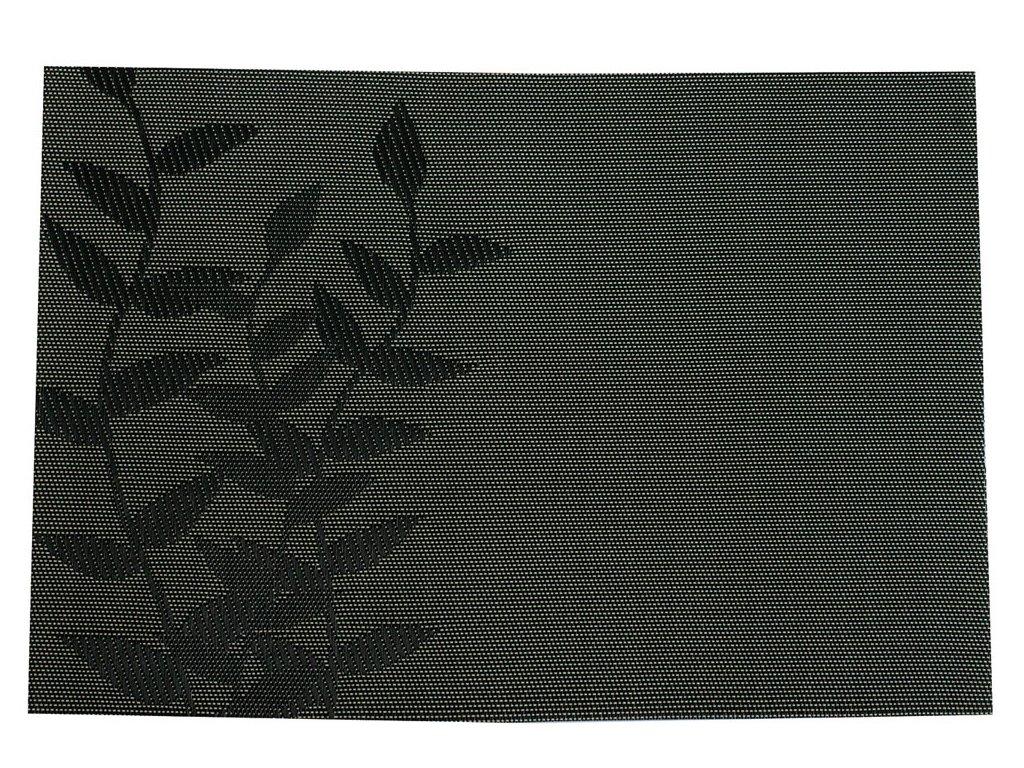 Podložka na stůl Velvet Black Twig PVC / PS 45 x 30 cm AMBITION
