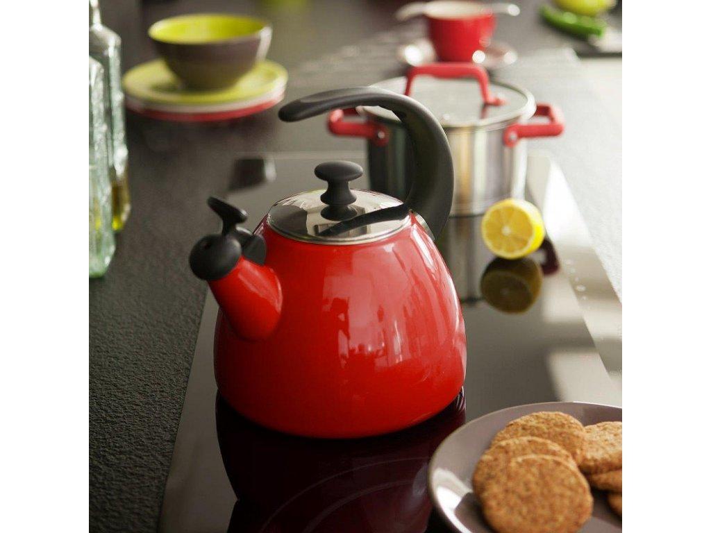Smaltovaná čajová varná konvice Focus Fresh Červená 2,5 l AMBITION