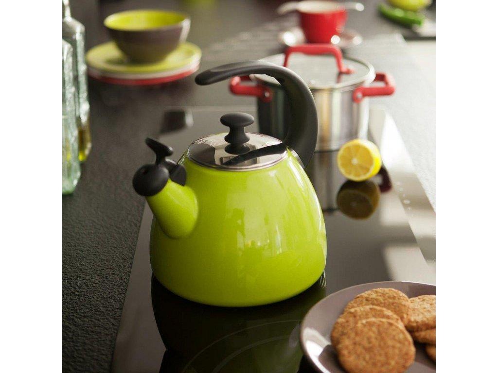 Smaltovaná čajová varná konvice Focus Fresh Zelená 2,5 l AMBITION