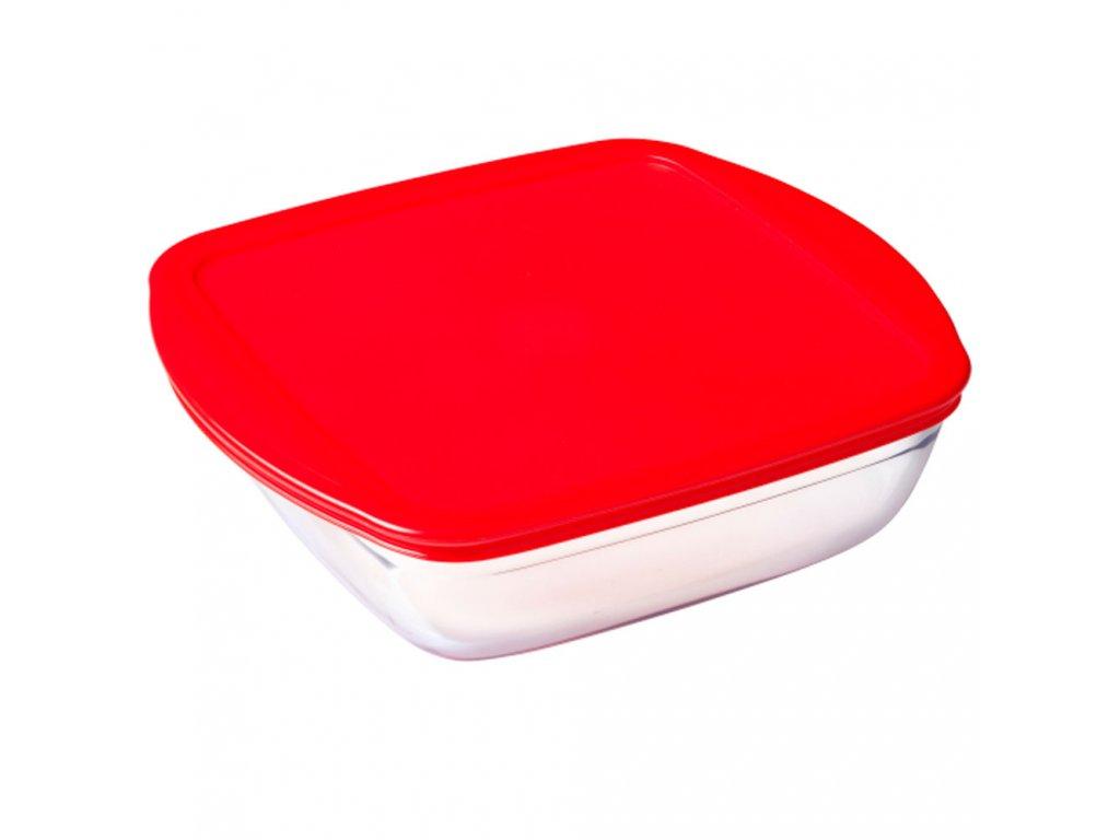 Žáruvzdorná nádobka s plastovým víkem 20 x 17 cm ARCUISINE