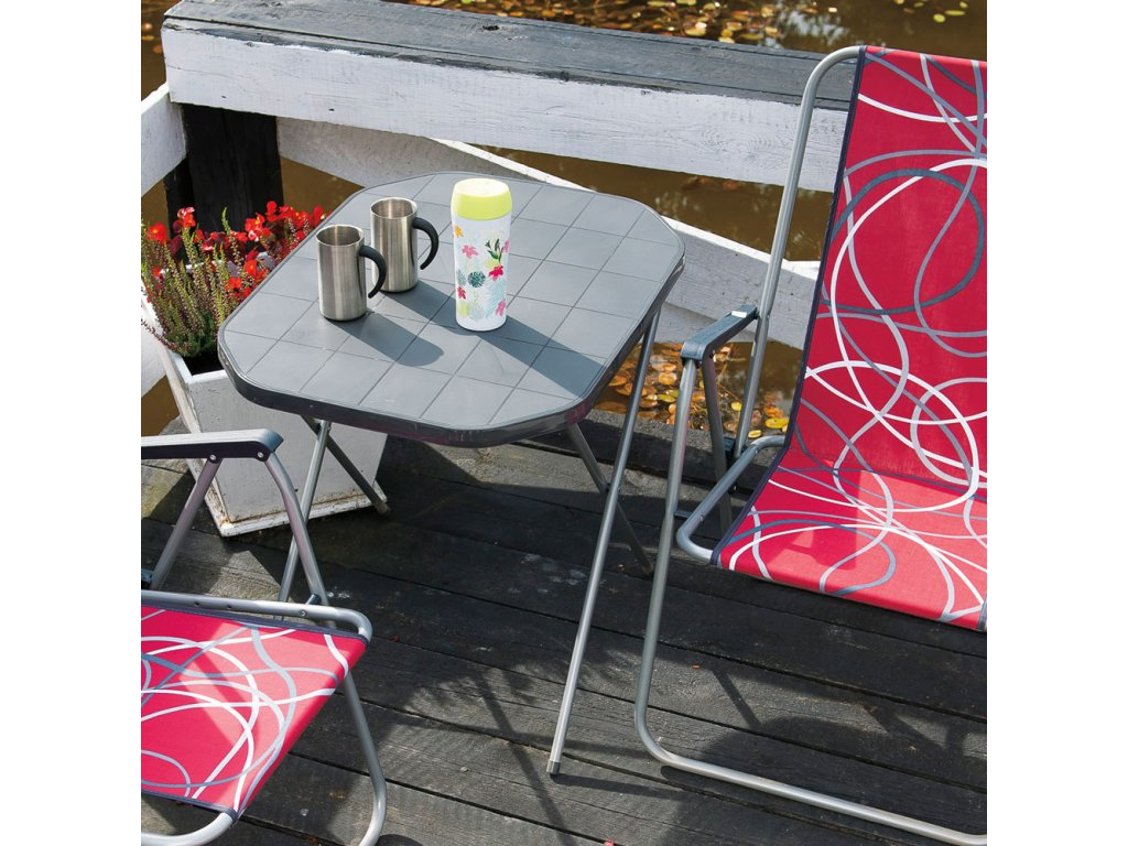 Skládací turistický stůl Antracit 70 x 53 cm PATIO