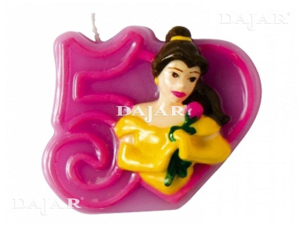 Narozeninová svíčka Disney ´s Princess 5 years DISNEY