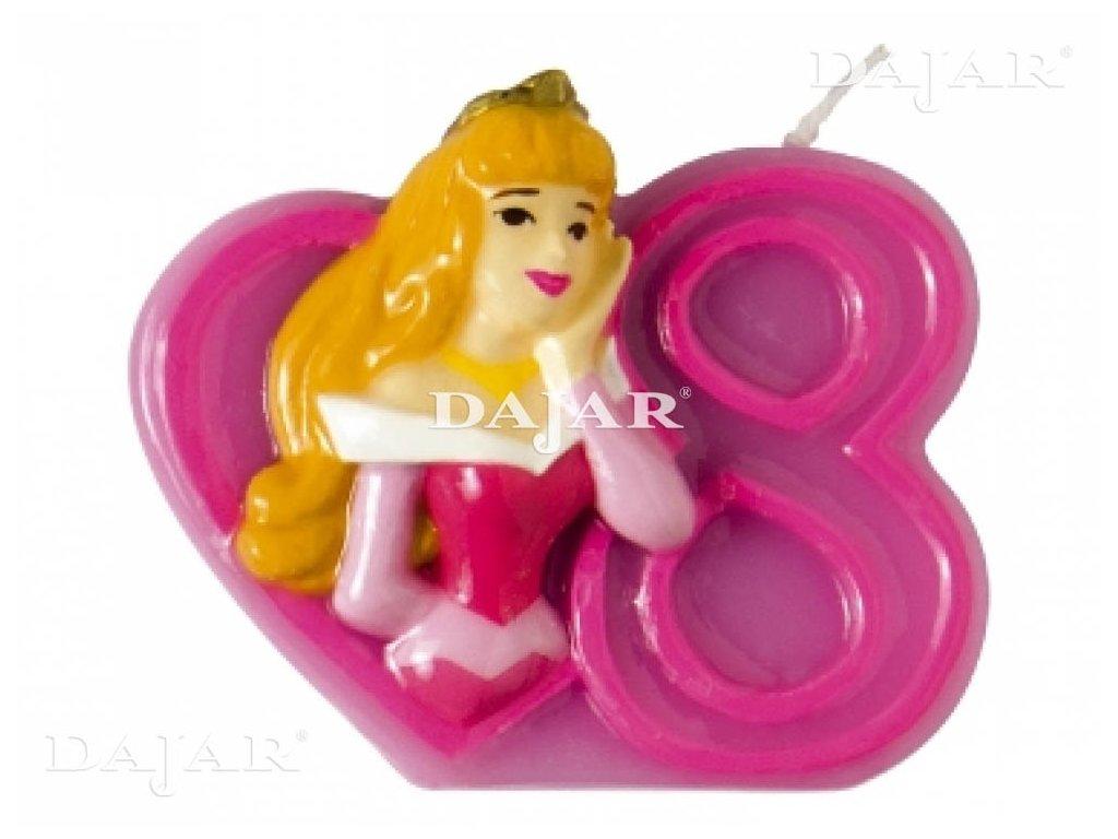 Narozeninová svíčka Disney ´s Princess 8 years DISNEY