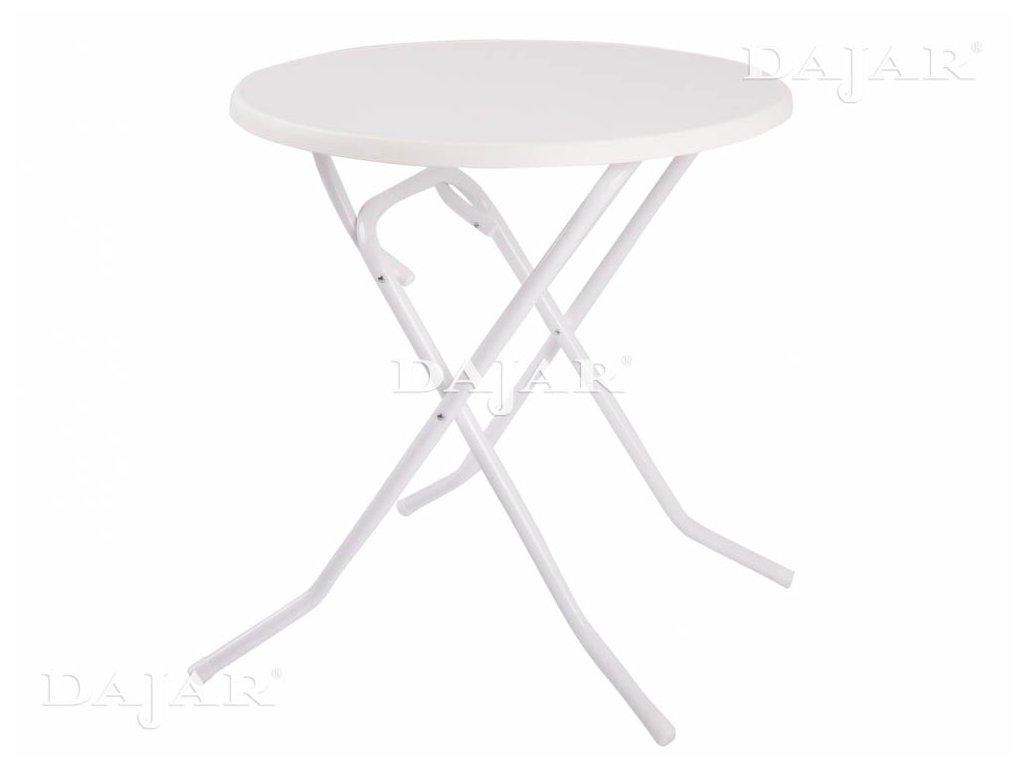 Zahradní sklápěcí stůl Dine & Relax White 70 cm PATIO