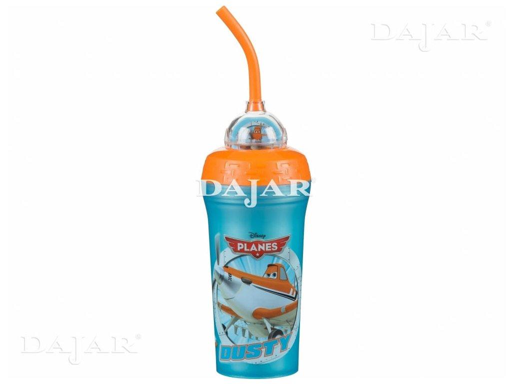 Melaminová láhev s brčkem Letadla 300 ml DISNEY