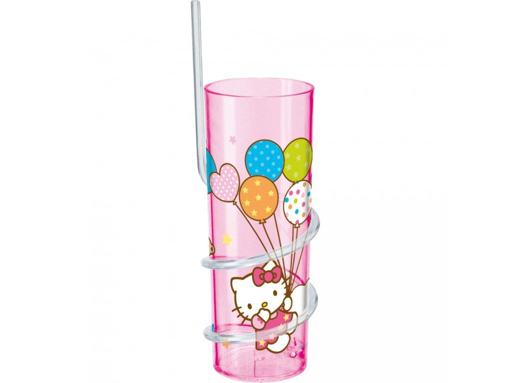 Sklenice s brčkem Hello Kitty Cutie Pie 325 ml DISNEY