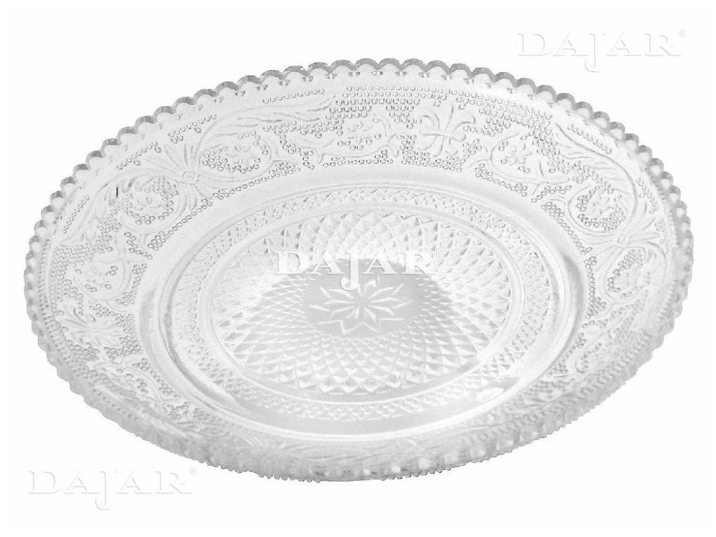 Dezertní talíř s tlačeným vzorem 15 cm