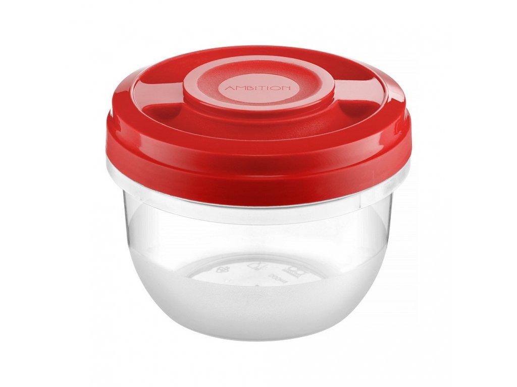 Nádobka do mikrovlnky Fusion Fresh Red 500 ml AMBITION