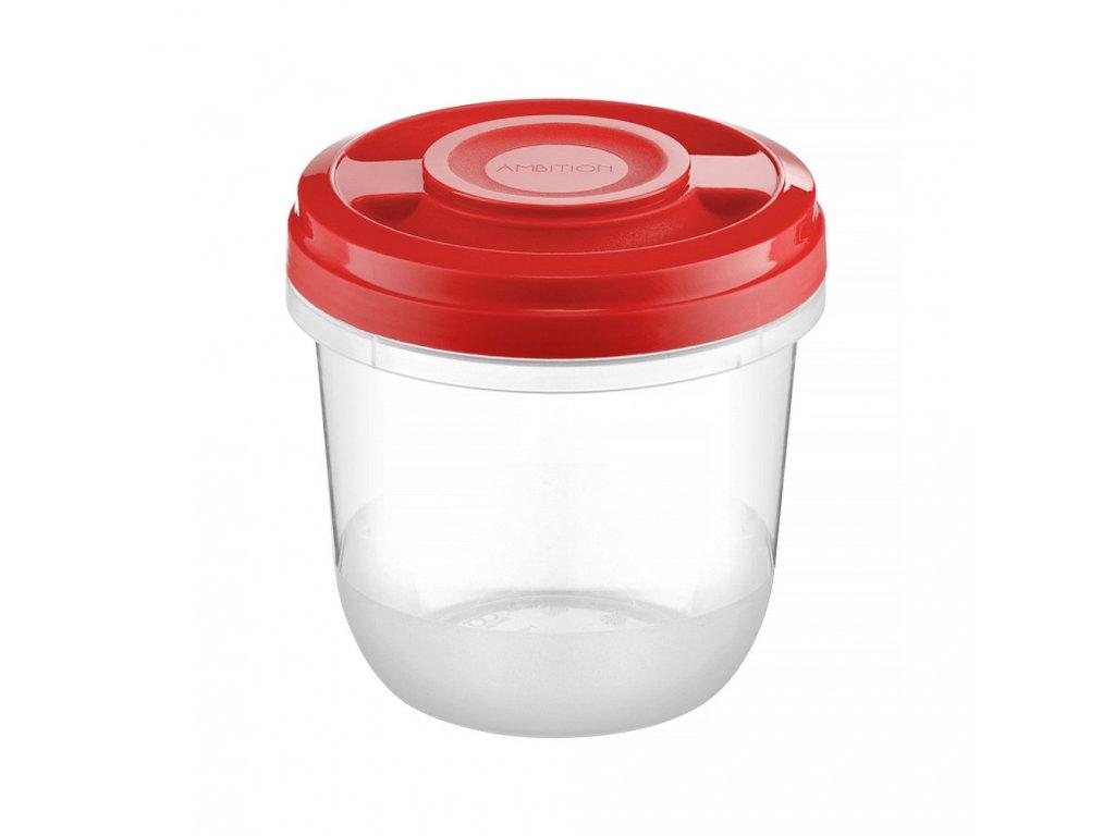 Nádobka do mikrovlnky Fusion Fresh Red 750 ml AMBITION