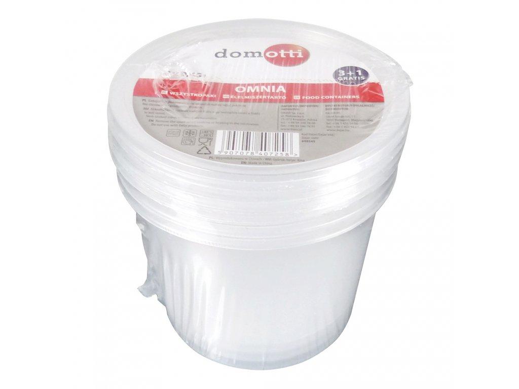 Set 4 plastových nádobek Omnia 440 ml DOMOTTI