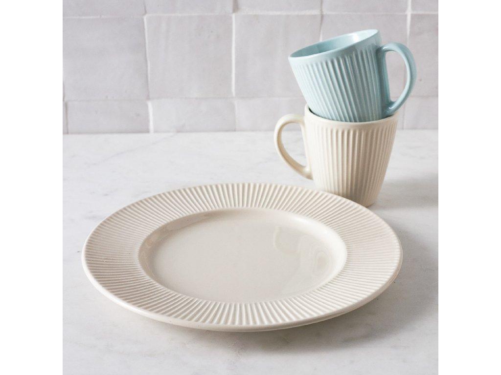 Keramický mělký talíř Palette Cream 27 cm AMBITION