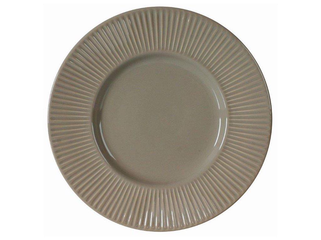 Keramický dezertní talíř Palette Taupe 22,5 cm AMBITION