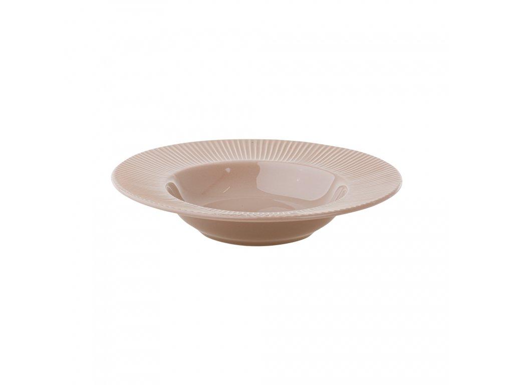 Keramický hluboký talíř Palette Taupe 24 cm AMBITION