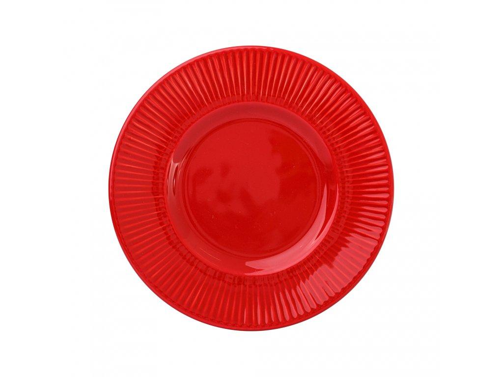 Keramický dezertní talíř Palette Red 22,5 cm AMBITION
