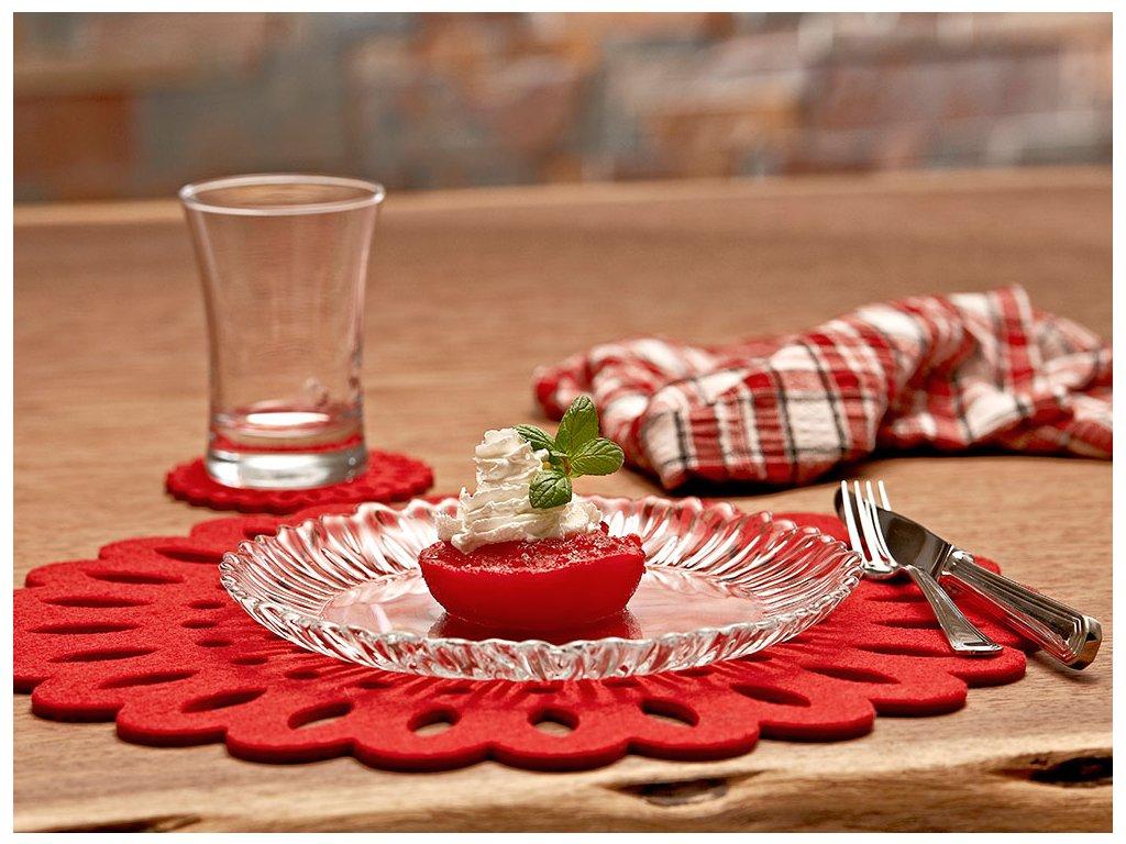 Servírovací dezertní talíř Aurora 20,5 cm PASABAHCE