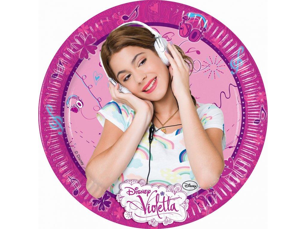 Sada 8 papírových talířů Violetta 20 cm DISNEY