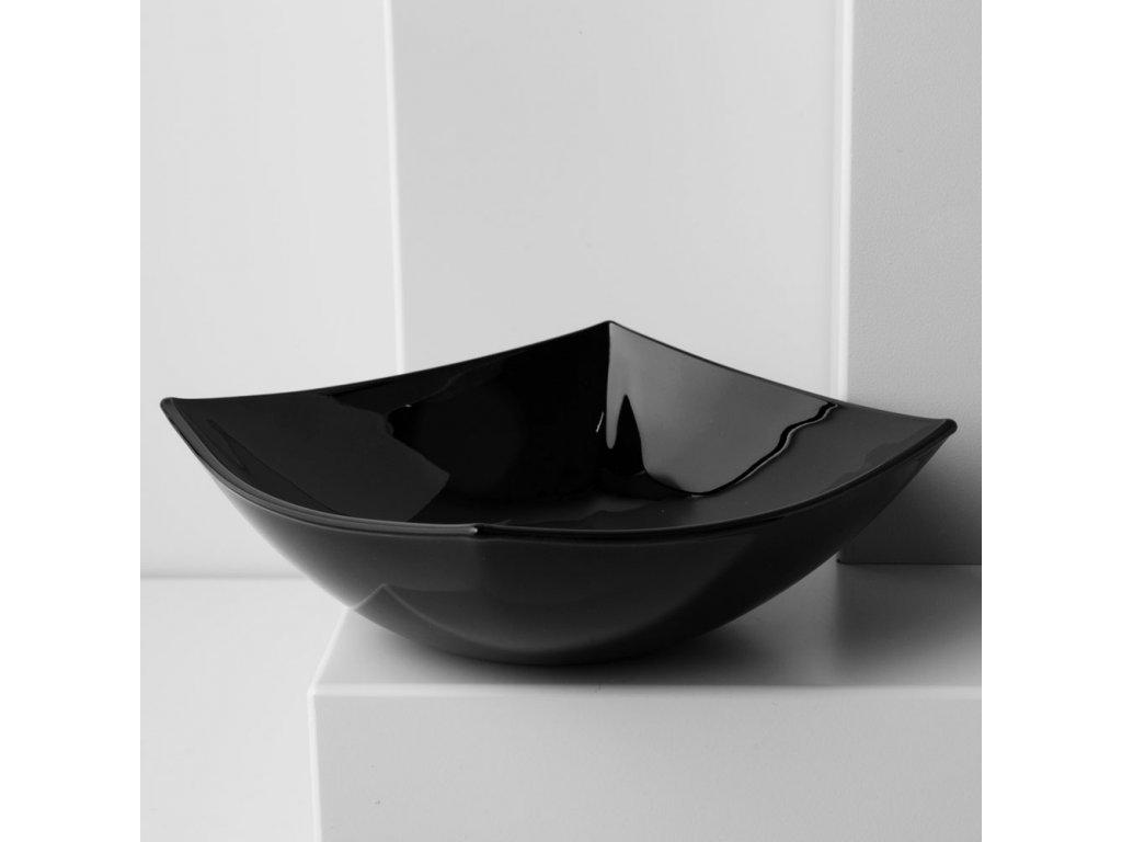 Salátová mísa Quadrato Black 14 x 14 cm LUMINARC