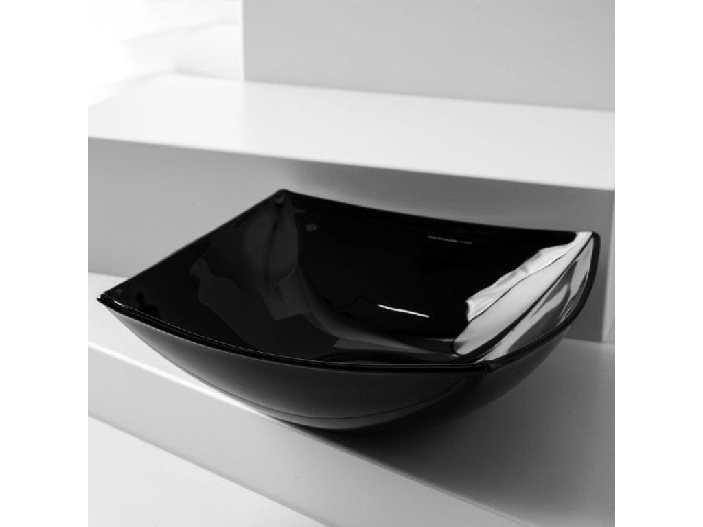 Salátová mísa Quadrato Black 24 x 24 cm LUMINARC