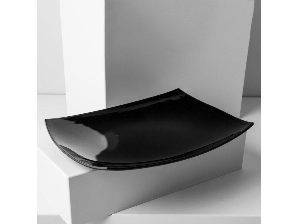 Servírovací talíř Quadrato Black 35 x 26 cm LUMINARC