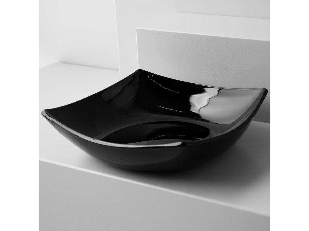 Hluboký talíř Quadrato Black 20 cm LUMINARC