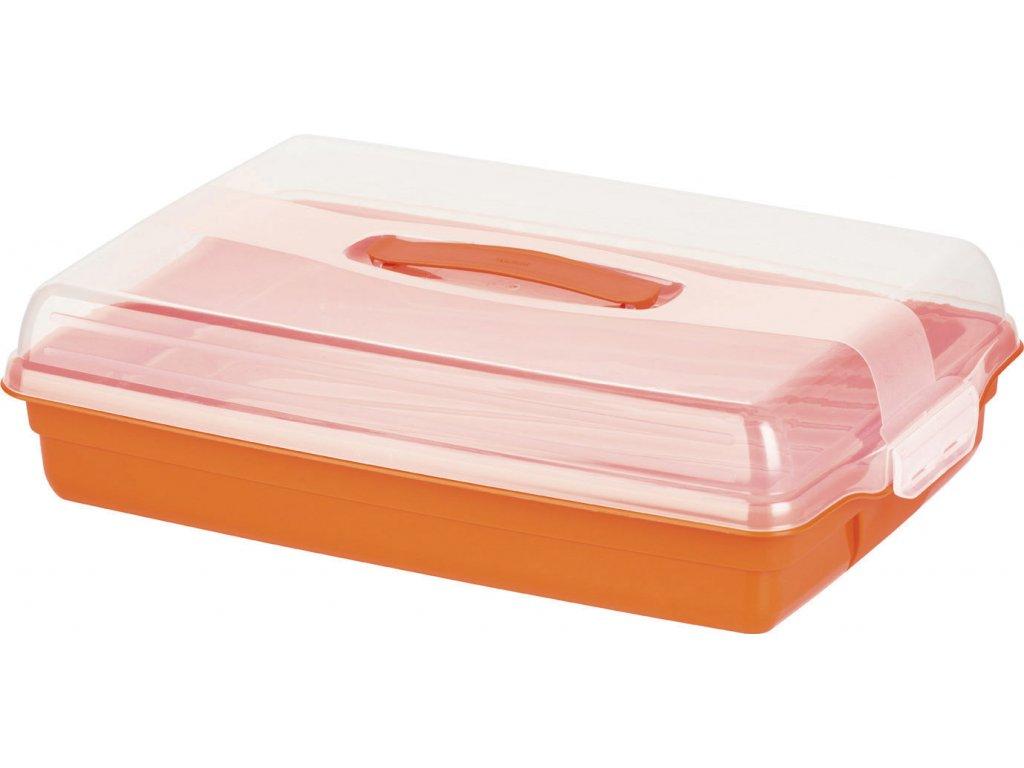 Nádobka na koláč s víkem Orange 45 x 29,5 x 11 cm CURVER