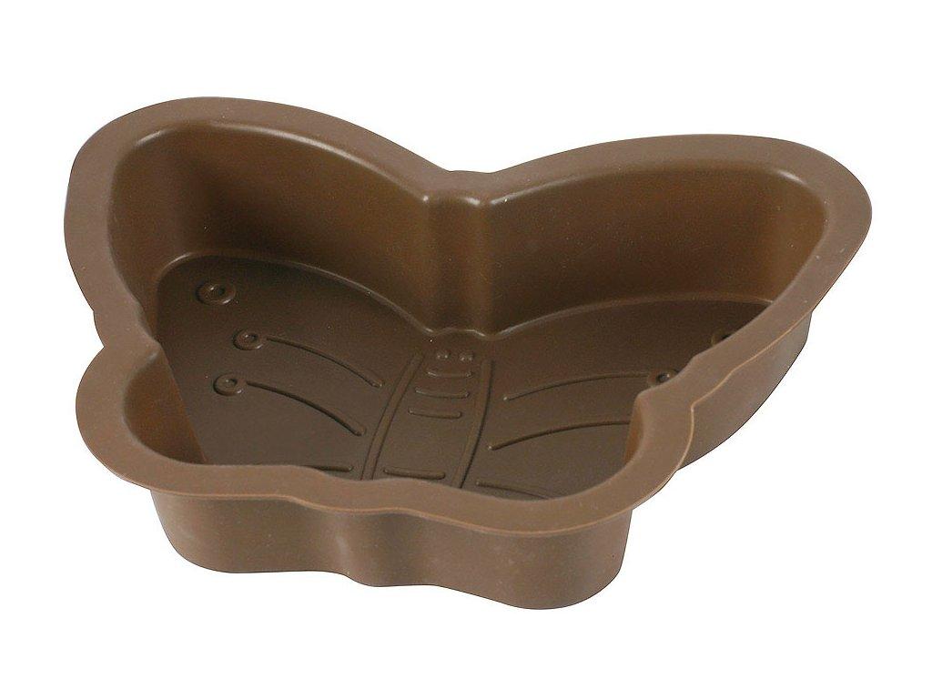 Silikonová forma na dort Motýl Delice Brown AMBITION