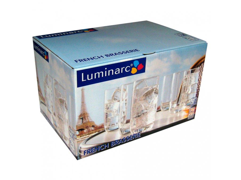 Sada 6 vysokých sklenic French 330 ml LUMINARC