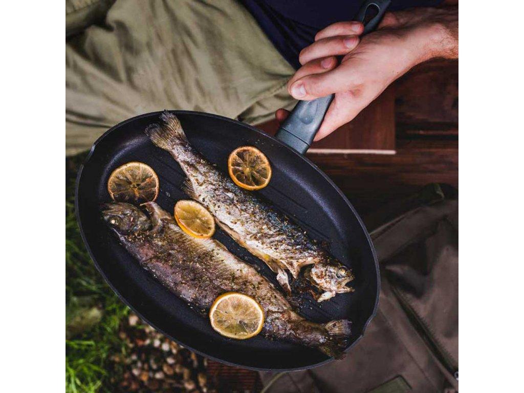 Hliníková pánev na ryby Graphite 35 cm AMBITION