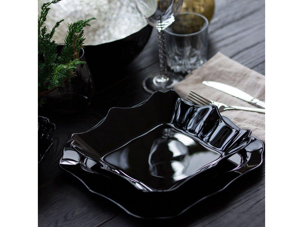 Hluboký talíř Authentic Black 22,5 x 22,5 cm LUMINARC