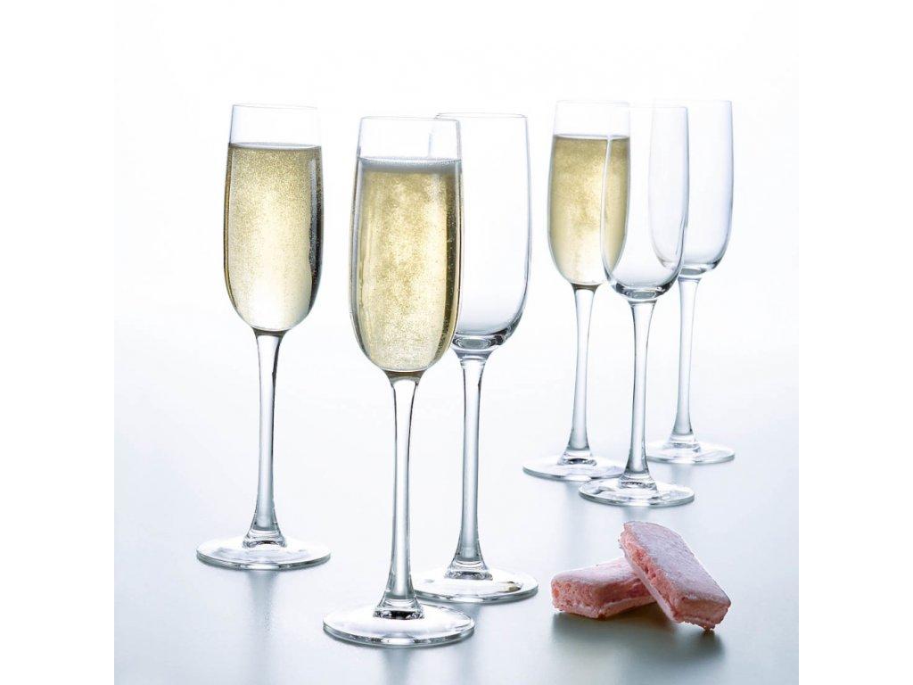 Sada 6 sklenic na šampaňské Versailles 160 ml LUMINARC