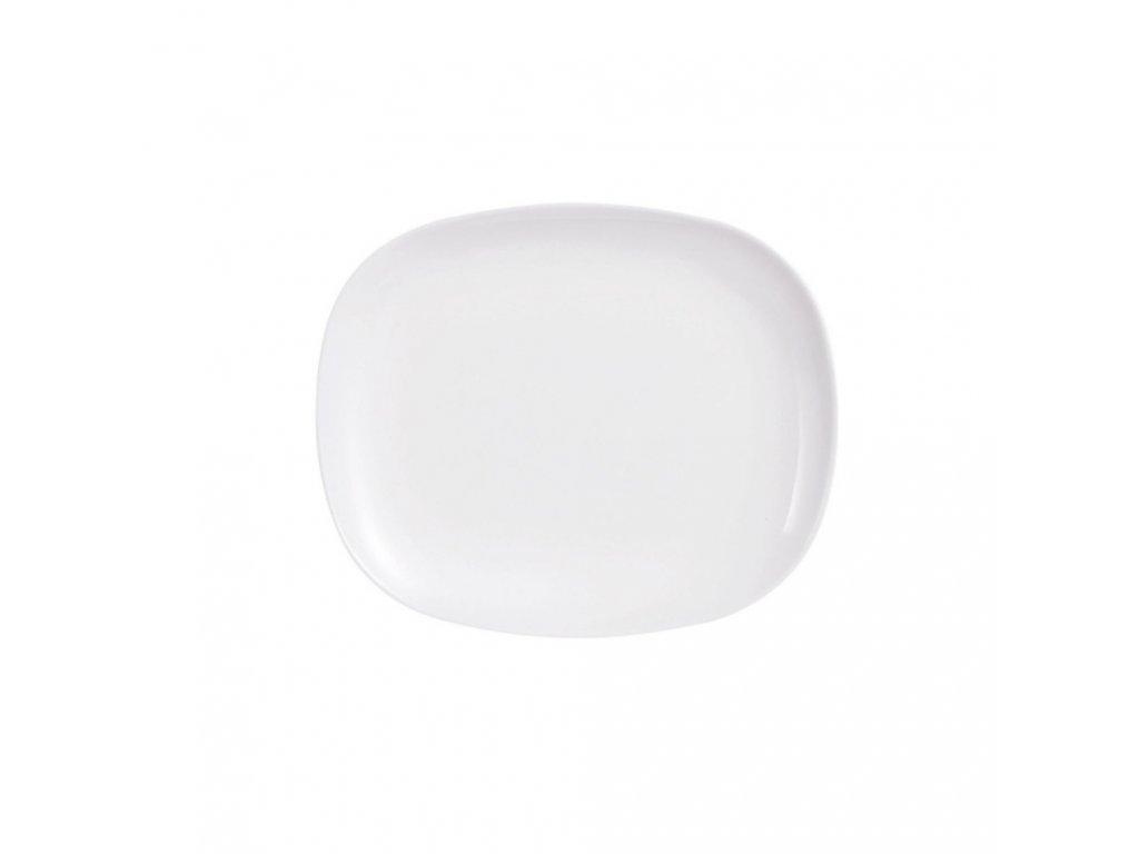 Mělký talíř Sweet Line White 28 x 23 cm LUMINARC