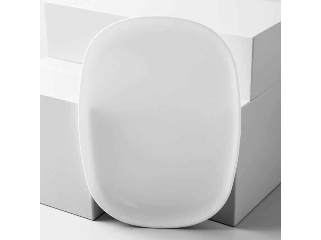 Servírovací talíř Sweet Line White 35 x 24 cm LUMINARC