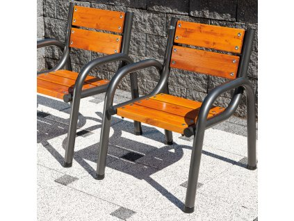 Dřevěná zahradní židle Park Lux 65 x 74 x 86 cm PATIO