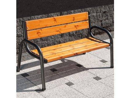 Zahradní dřevěná lavička s opěradlem Park Lux 150 x 74 x 86 cm PATIO